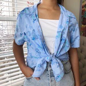 blue light button down shirt